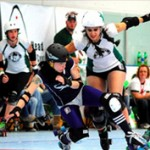 Derby girls battle it out.