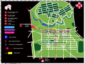 Click here to view the full size Adelaide Map